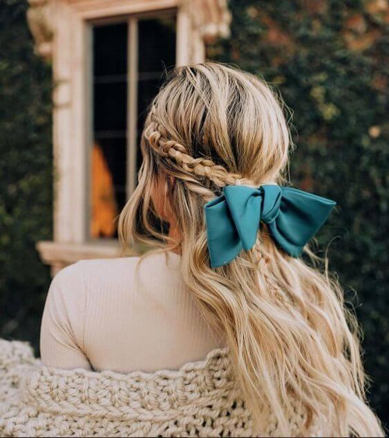 Braid accessorized with a bow