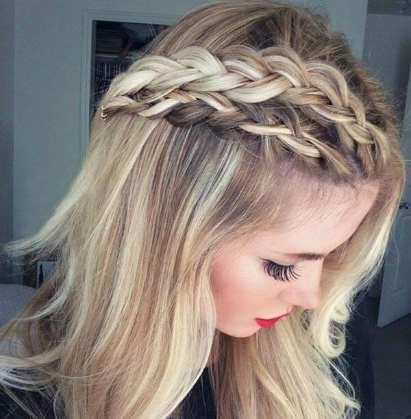 Dutch braid is perfect for woman with medium length hair