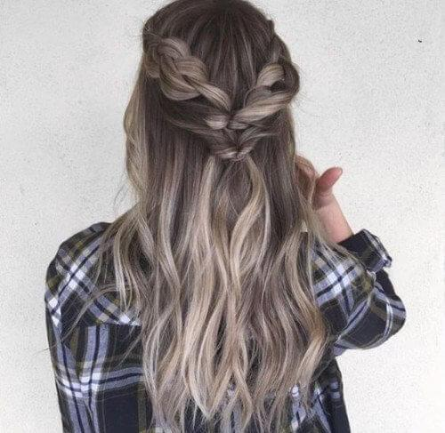 A back braid like this is not so complicated to make