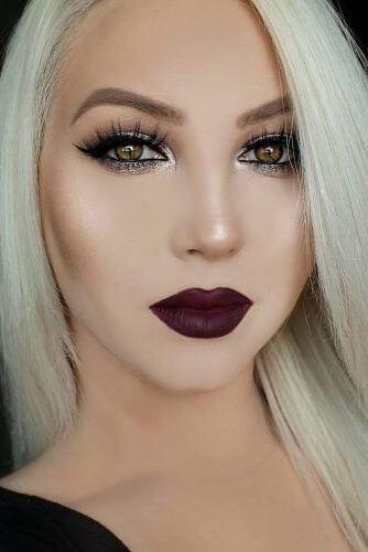 Dark burgundy-brown matte lipstick is made for Christmas party