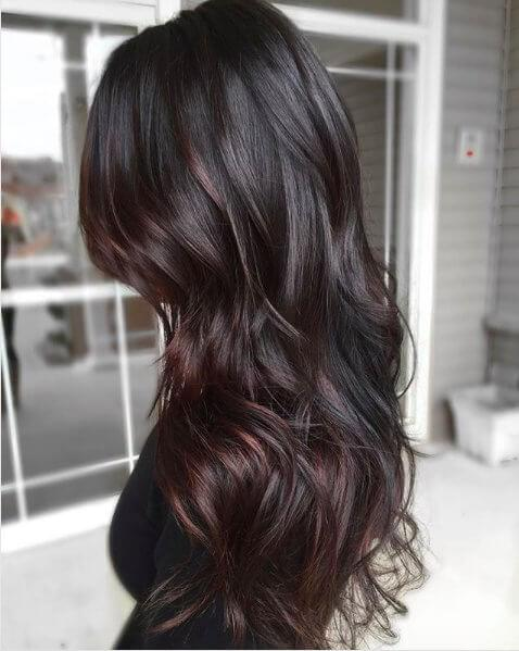 Imagine your hair in a shade of dark coffee. Isn't that wonderful? #haircolor #warmblackhair