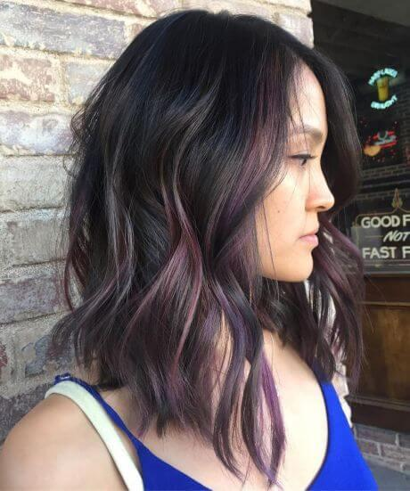 Since black is consistent and natural color of hair, it matches pretty well with everything. Think about doing a rainbow-toned highlights - unique and fancy trend in hairstyling. #haircolor #warmblackhair