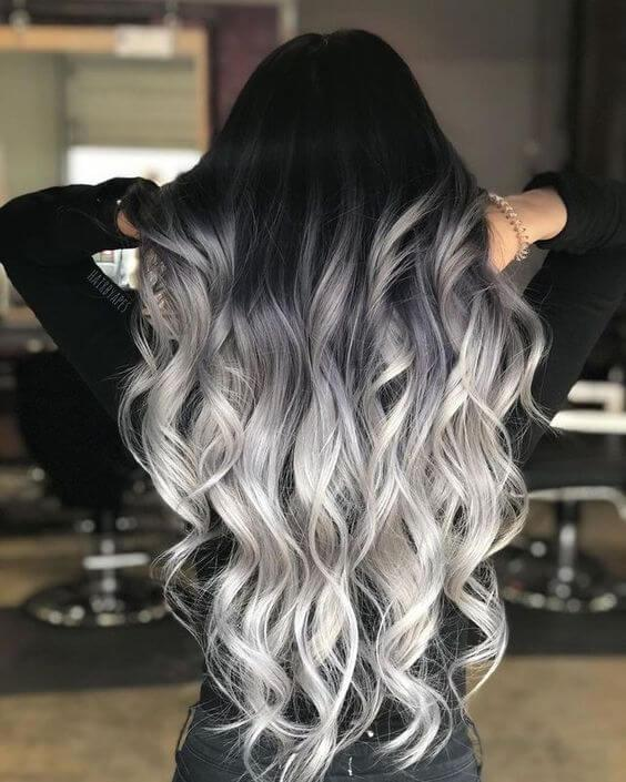Grey partial balayage is undoubtedly a thing of the moment! If you want to try it, then don't hesitate. #haircolor #warmblackhair