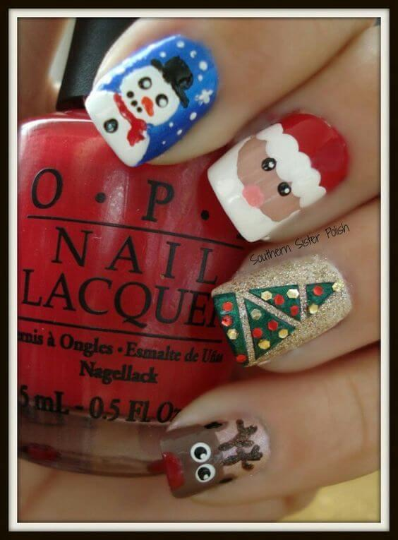 Being a master of nail designs is hard. Find one that can make your nails look like this and you will be the main attraction during Christmas holidays. #winternails #naildesign