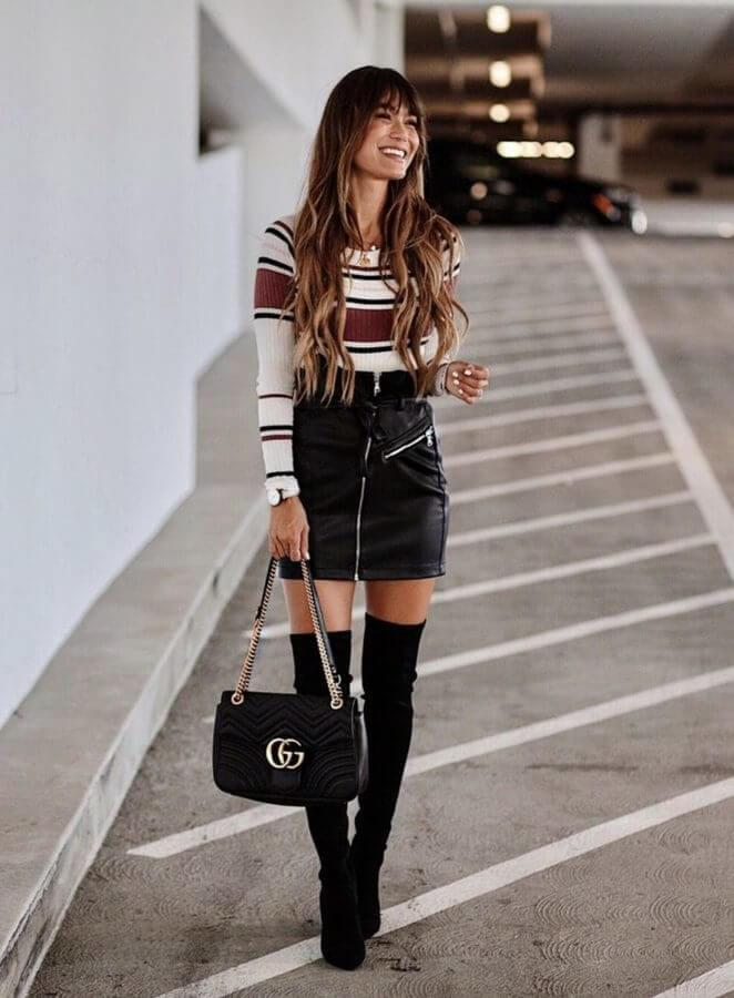 30 charming winter outfits to wear with thigh high boots
