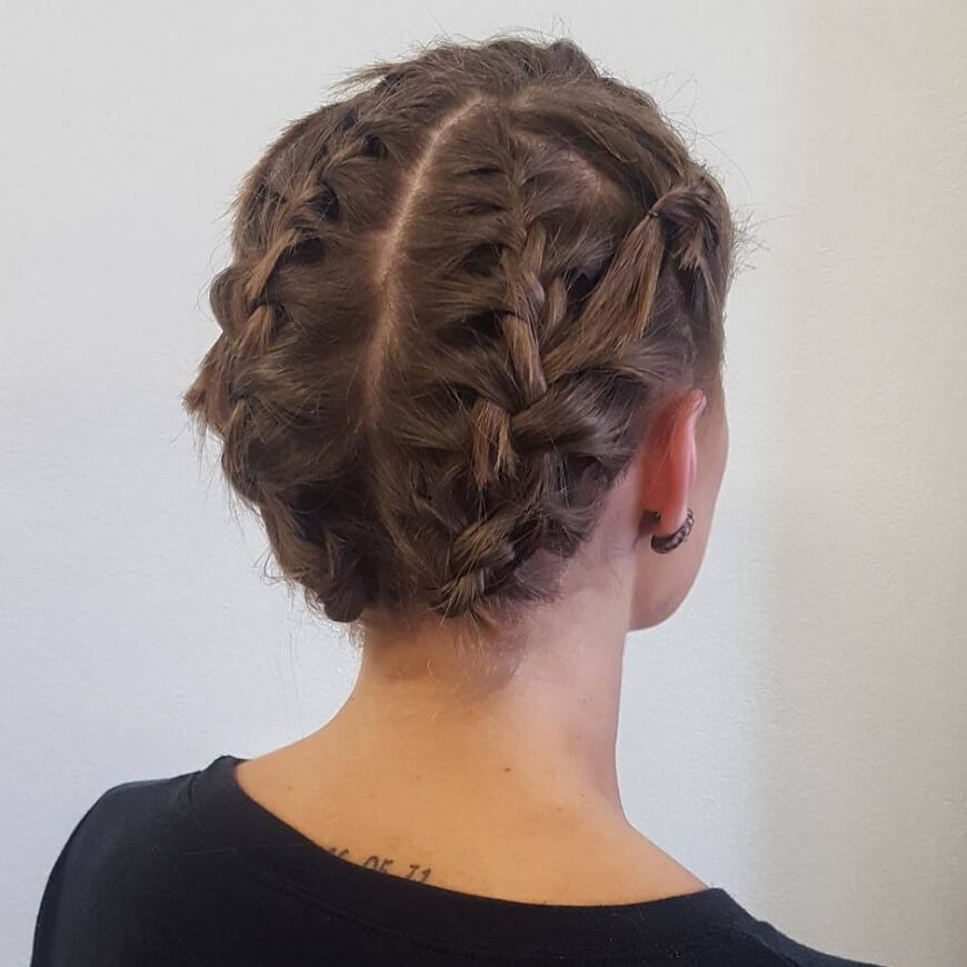 Straight your hair and then braid it! This is fun and very interesting hair updo, perfect for school girls. You can wear this for days, without thinking about how your hair looks.