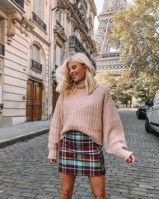 Slouchy Sweater and Skirt