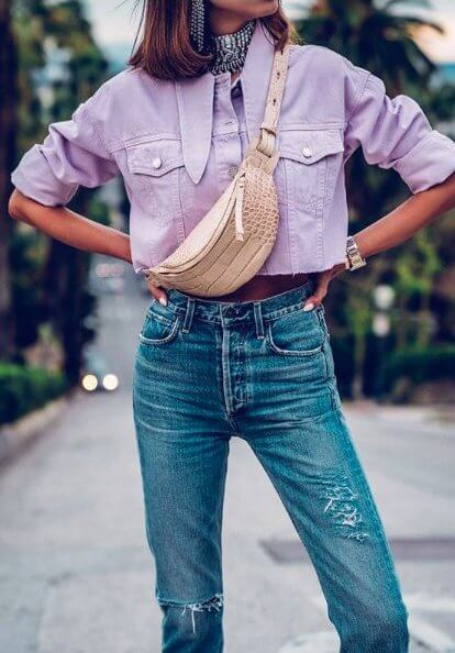 Lilac and Fanny Pack