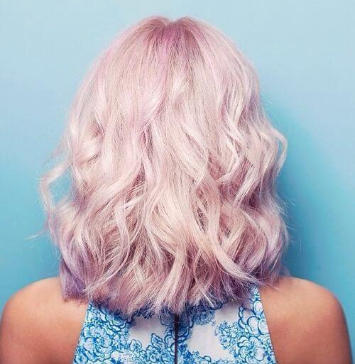 Unique Pink Hairstyle
