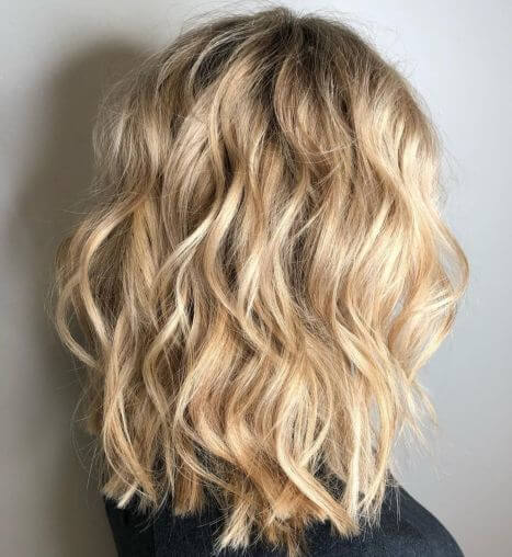 Texture and Volume of Perfect Blonde Hairstyle