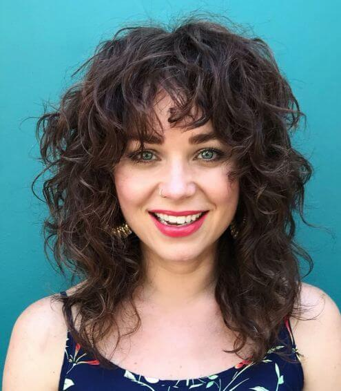 Summertime Curly Hairstyle