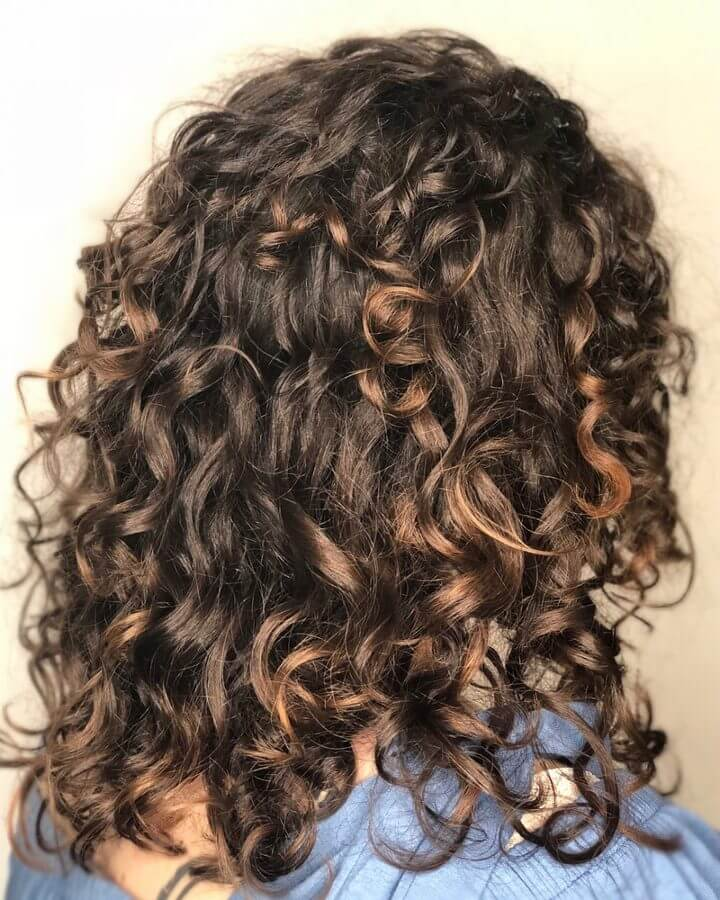Highlights and natural curls