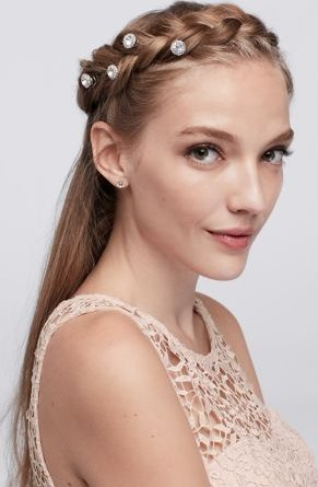 Crown Braid with Sparkly Details