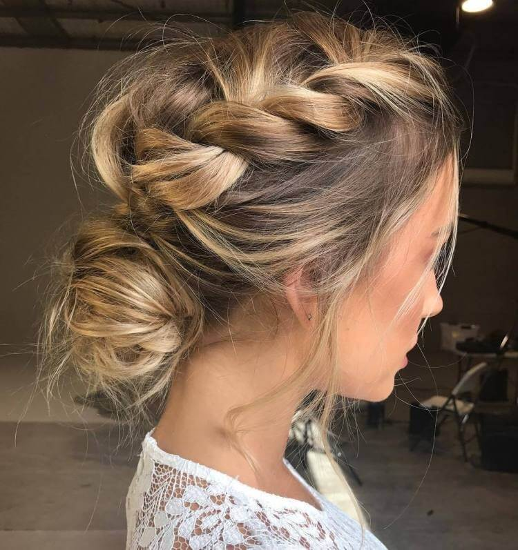 Messy and Braided Updo