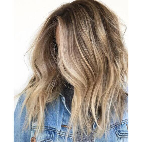 Brown Base - Blonde Highlights