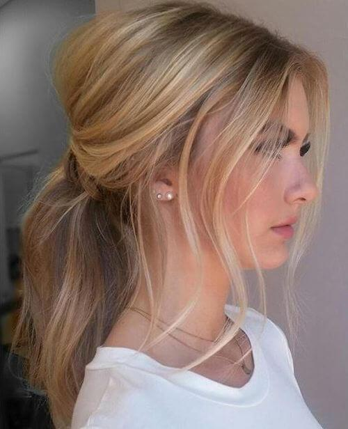 Low Highlighted Ponytail