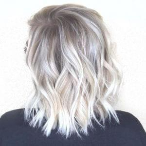 White Blonde Balayage Hairstyle