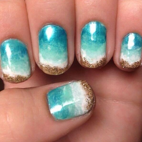 Beach and Sand Nails