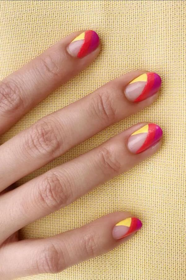 Colors of the Sun Nail Desing