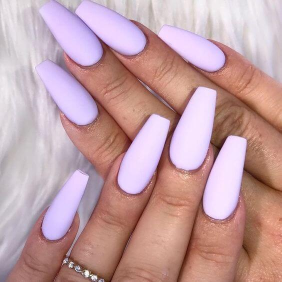 Lilac Coffin Nails