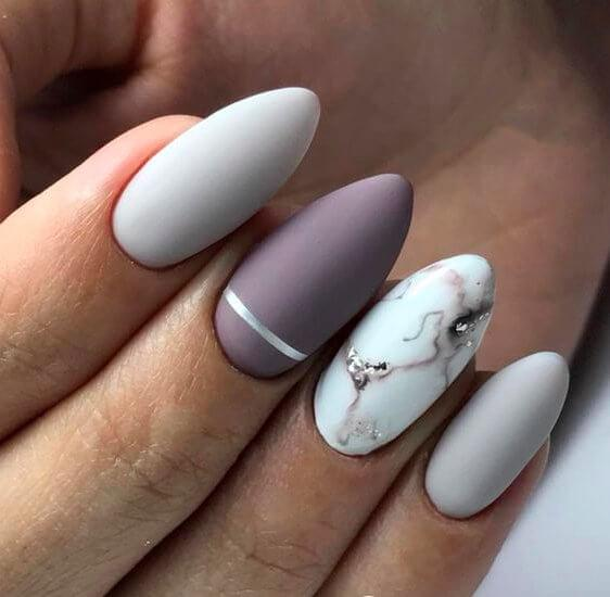 Marble Inspired Nail Desing