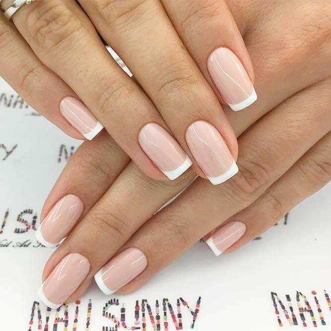 Classy French Manicure