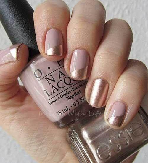 Natural and Bronze Nails