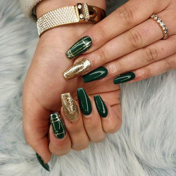 Glamorous Gold and Green
