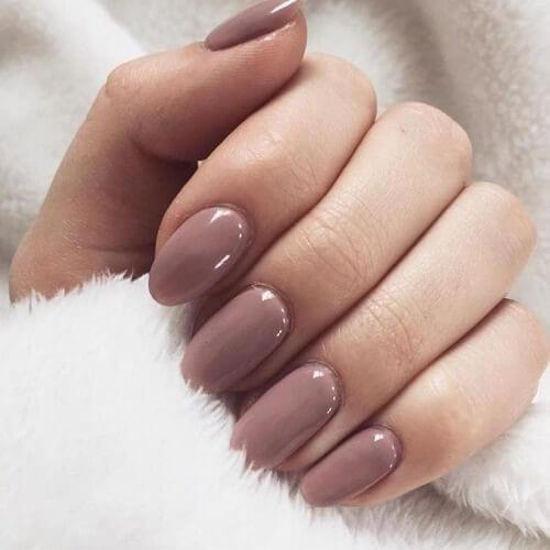 Simple Dusty Rose Nails