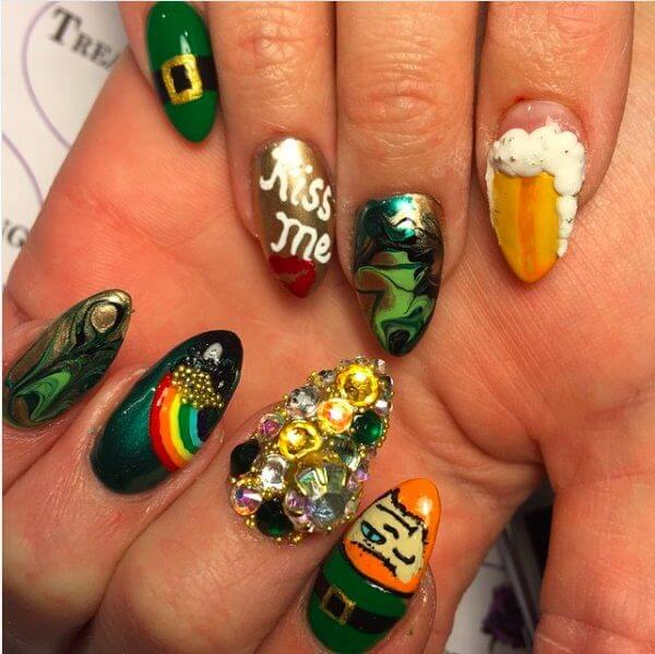 St. Patrick's on Your Nails