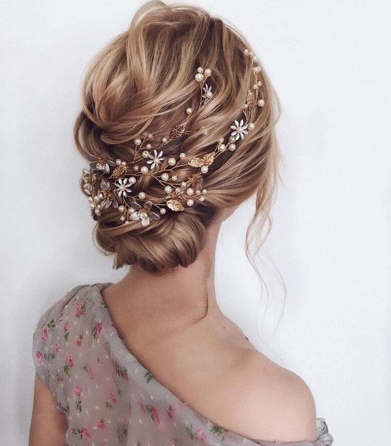Bronze and Pearl Hair Accessories