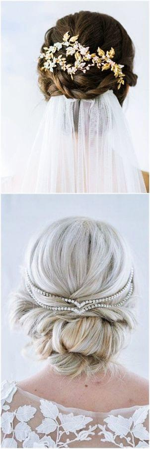Updo with a Veil
