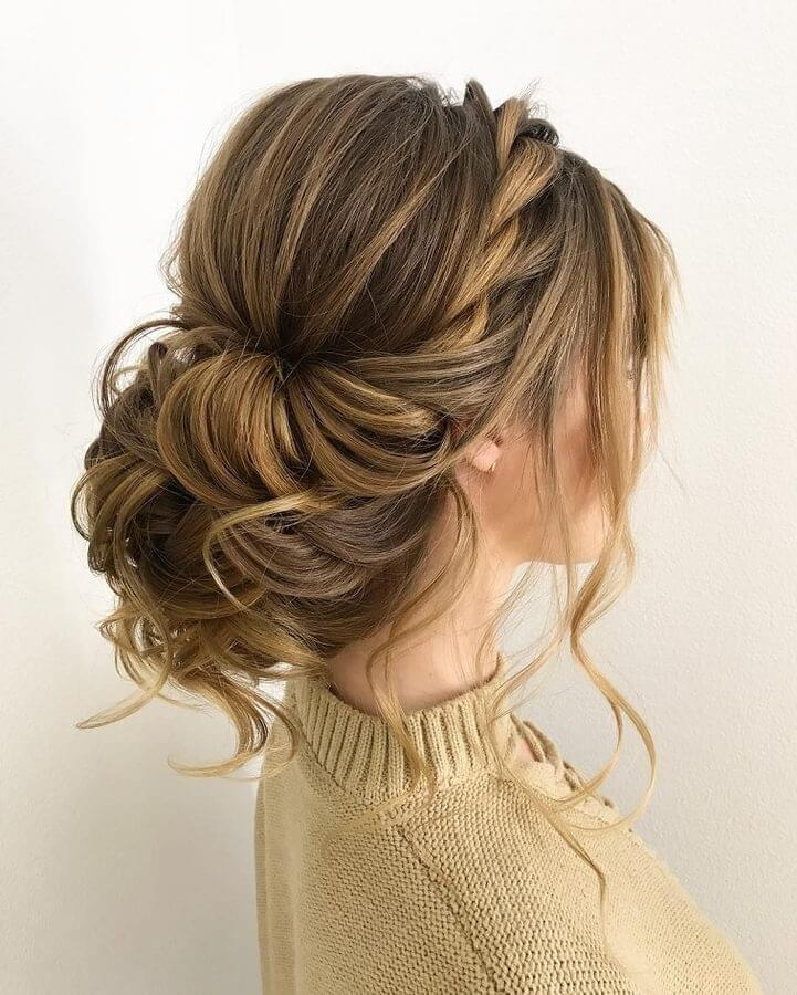 Messy braid hairstyle