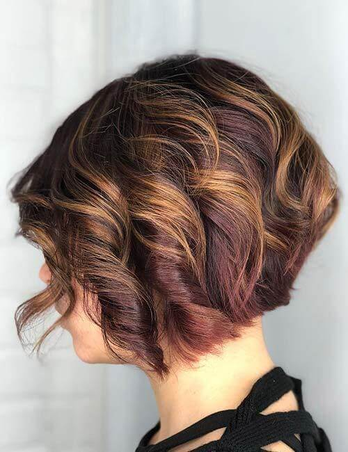Wine Shaded Hair