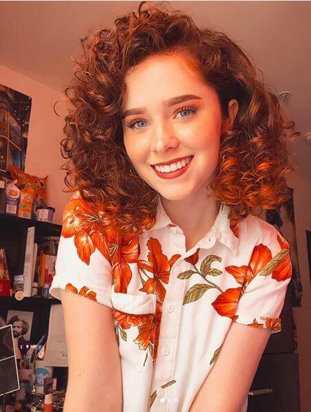 Auburn Curly Bob