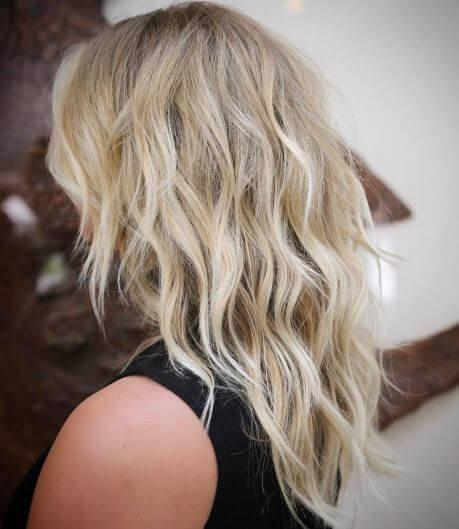 Wavy Blonde Shag