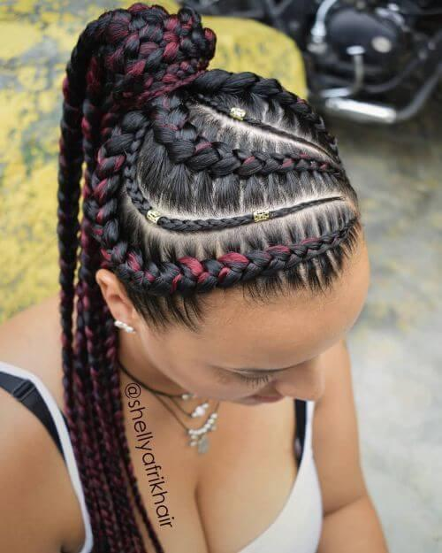 Red Shades of Braids
