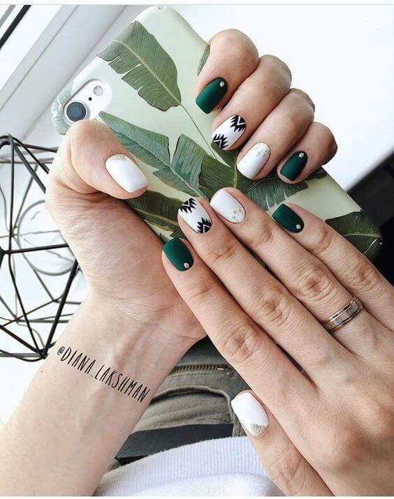 Green and White Pattern