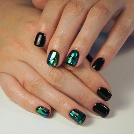 Broken Glass Nails