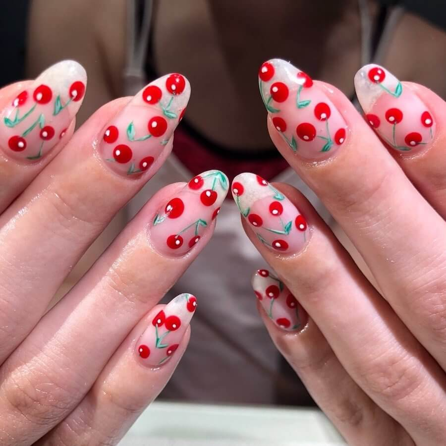 Cherries on Your Nails