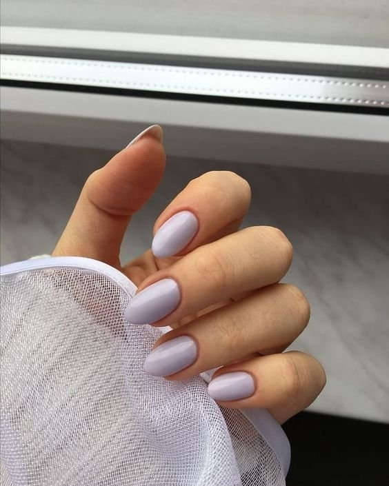Lilac Almond Nails
