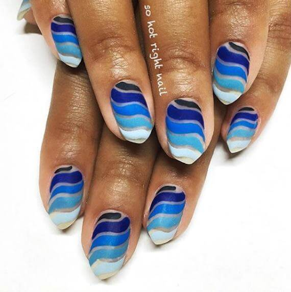 Ombre Blue Nails