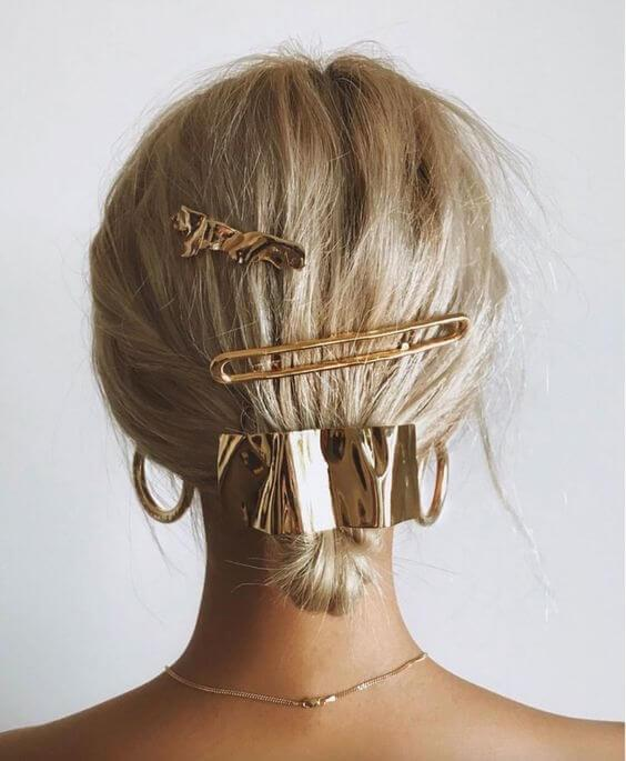Hair Pins Metallic Gold Vibes