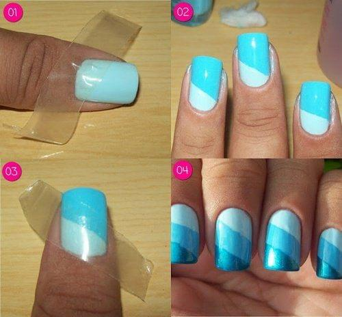 Using Tape for Lines on Nails