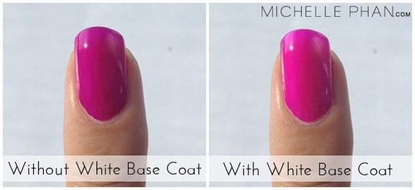 White Base Nail Coat for Neon Effect