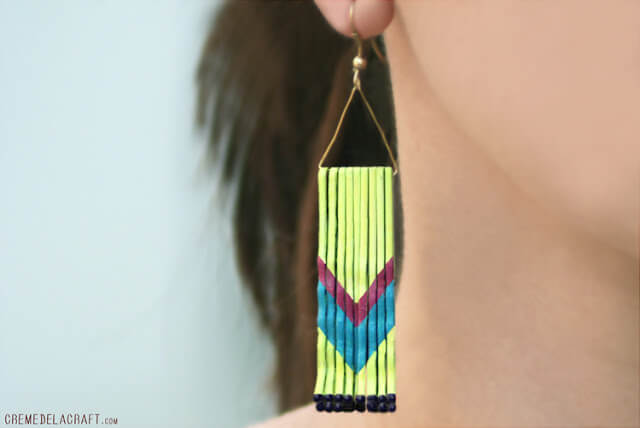 A colorful array of bobby pins are stuck together to create this cute look