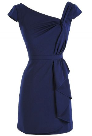 Set sail in this navy blue stunner dress