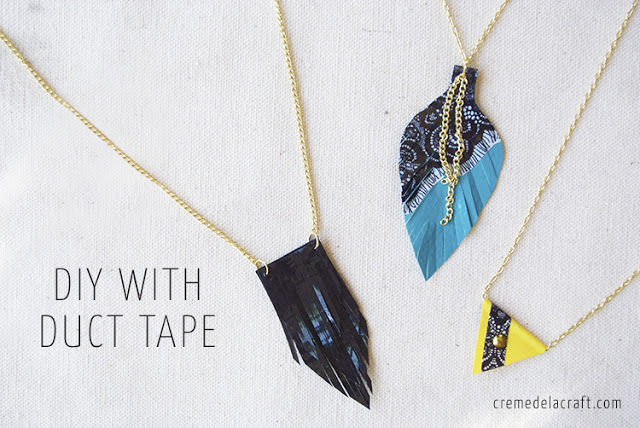 DIY duct tape necklaces