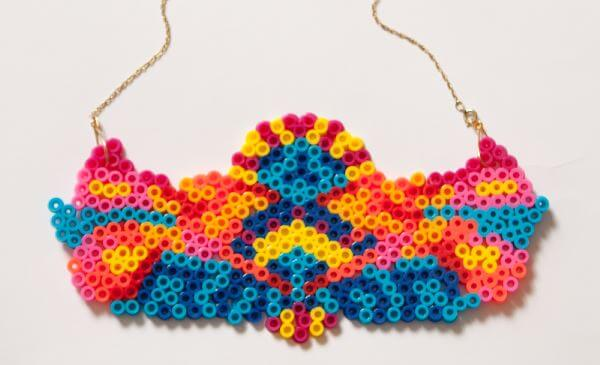 DIY hama beads necklace