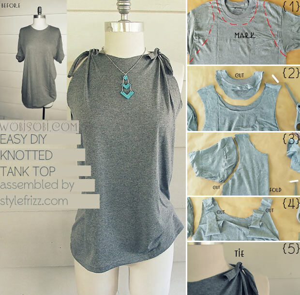 This DIY idea is a brilliant transformation of a boring stretched out shirt into a new one.